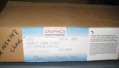 """RexamGraphics 105MMx148MM Diazo Microfilm w/3/8""""Color Stripe New Old Stock"""