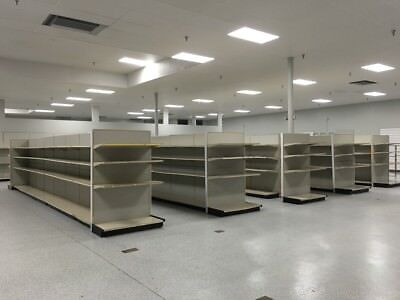 Retail Gondola Supermarket Shelving Lozier Madix Steel Aisles Used Sections