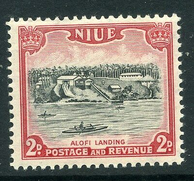 NIUE;     1950 early issue fine Mint hinged value 2d.