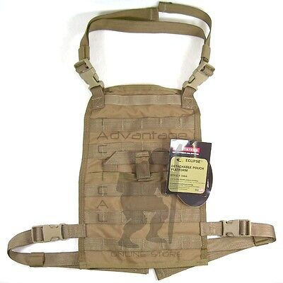 BAE Systems ECLiPSE Foldable Chest Rig MOLLE Platform - coyote brown USMC