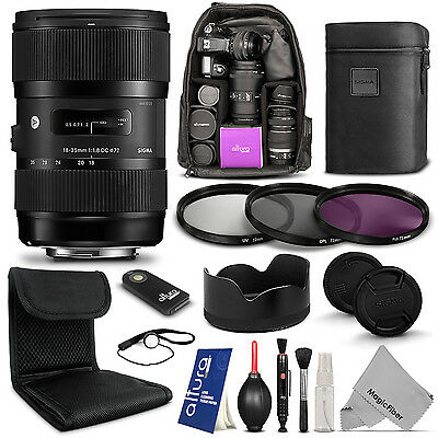 Sigma 18-35mm F1.8 DC HSM Lens for Canon EOS DSLR Camera