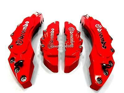 Latest 3D Style Big Red Brembo Look Disc Brake Caliper Covers Front & Rear 4 Pcs