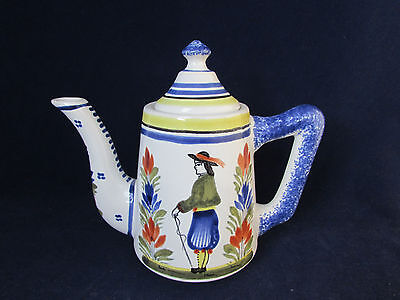 Quimper France China HENRIOT Small Coffeepot