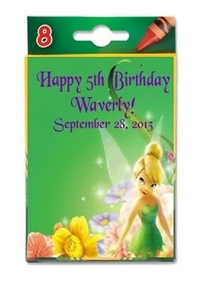 Tinkerbell Crayon Labels Birthday Party Favors Personalized Custom
