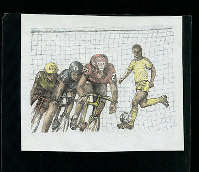 Guyana1994 Soccer/Football Olympics Michel BL 317 Proof with Value+Ovpt Omitted