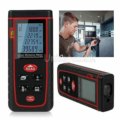 40m/131ft Mini Digital Laser Distance Meter Range Finder Measure Diastimeter UK