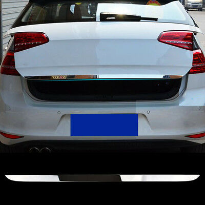 Fit For Vw Golf 7 Mk7 Chrome Rear Trunk Boot Door Lid Cover Trim Tailgate Cover