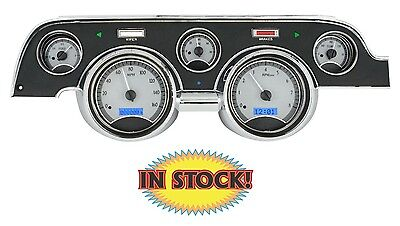 Dakota Digital 67- 68 Ford Mustang VHX Gauge Package Silver/Blue VHX-67F-MUS-S-B