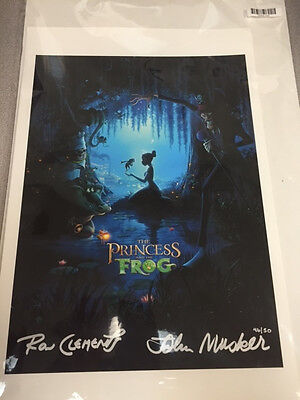 Princess and the Frog Acme Archives Disney LE 50 13x19 Giclee - Signed Autograph