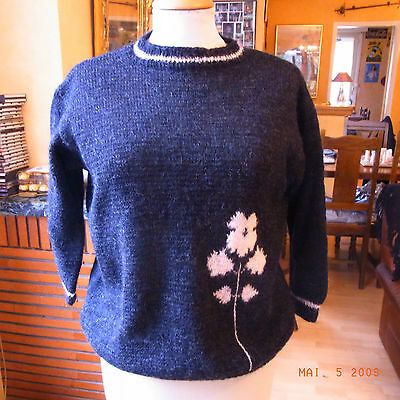 VINTAGE 60 PULL JACQUARD MANCHES 3/4 T44 - 3/4 SLEEVED PULLOVER 60'S size XL