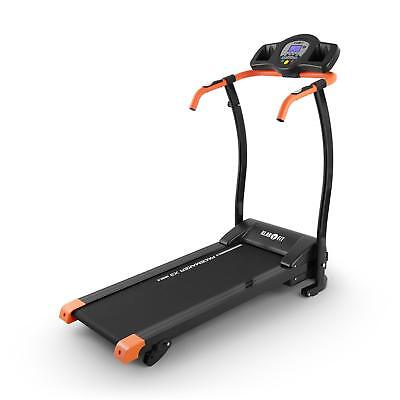 PROFI ELEKTRISCHES LAUFBAND FITNESSGERäT HEIMTRAINER LCD-DISPLAY 1100W ORANGE