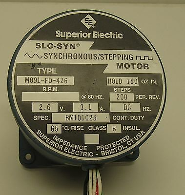 Superior Electric Slo-syn Stepping Motor Stepper M091-FD-426 Synchronous Motor