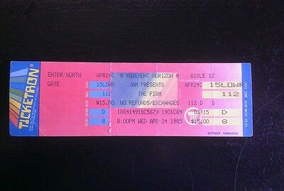 Jimmy Page The Firm  Ticket 4/24/1985 Rosemont Horizon Chicago MAKE AN OFFER!