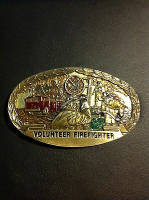 Volunteer Firefighter Pewter Belt Buckle