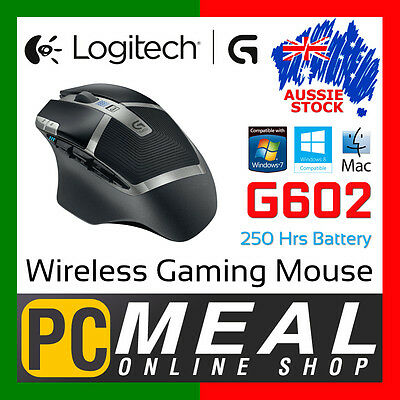 Logitech G602 Wireless Gaming Mouse 2.4GHz PC Mac Cordless Long Battery Life USB