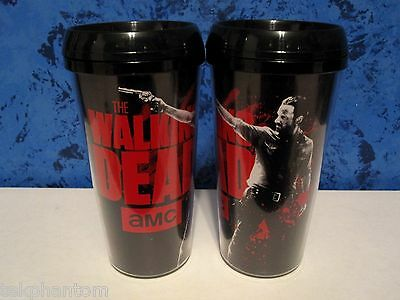The Walking Dead Rick Grimes Black Travel Coffee Mug Tumbler Cup Andrew Lincoln