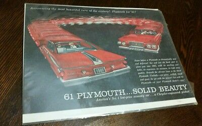 """Announcing the Most Beautiful Turn of the Century"" 1961 Plymouth Fury Ad"