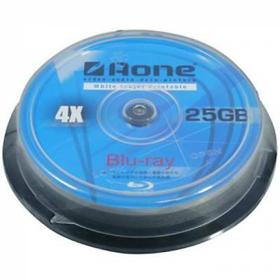 20 Aone Blu Ray Blank Discs Full Face Printable 25GB BD-R *SENT 48HR COURIER*