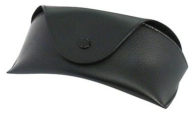 Designer Leather Look Black Sports Lined Glasses Case Nose Hold & Belt Loop 916