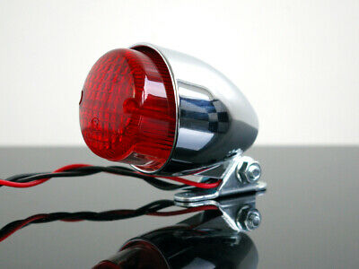Mini-RÜCKLICHT tail light feu arrière CHROM für Cafe-Racer CHOPPER Bobber !