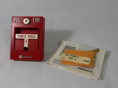 Simplex 2099 Manual Fire Alarm Pull Station with Key ! WOW !