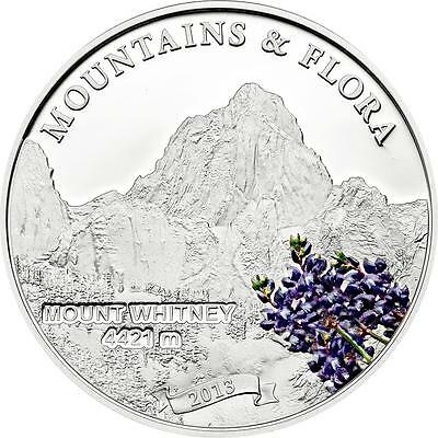 Palau 2013 $5 Mountains & Flora 2013 Mount Whitney Alaska 20g Silver Proof Coin