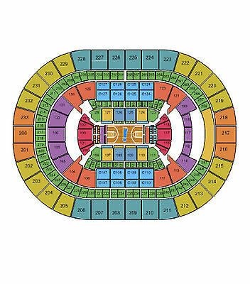 3-28 Session 2 NCAA Midwest Regional Elite 8 Cleveland 2 Tickets Sect 103 Row 14