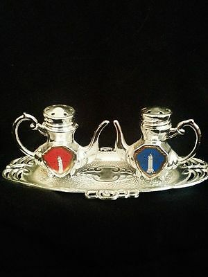 SOUVENIR/VINTAGE EMPIRE STATE BUILDING, STATUE OF LIBERTY SALT & PEPPER SHAKERS