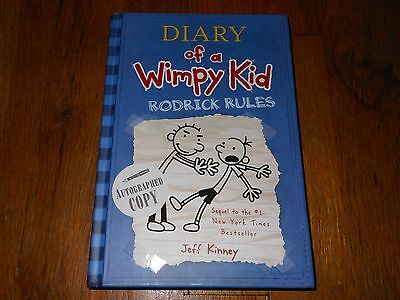 Diary Of A Wimpy Kid Rodrick Rules Signed by Jeff Kinney