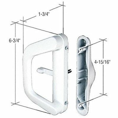 CRL White Sliding Door Handle Set for Milgard®