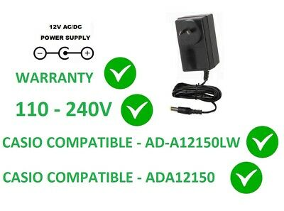 12V Ac/dc Power Supply Adapter For Casio Replacement Ad-A12150Lw A12150 Privia