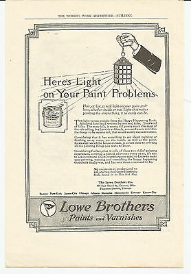 Vintage, Original 1922 -  Lowe Brothers Paints and Varnishes Advertisement
