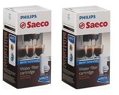 SWISS MADE - 2x Philips Saeco Brita Intenza Water Filter Cartridges CA6702