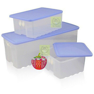 BRAND NEW TUPPERWARE FRIDGESMART 3 PCE SET with Free Refence Chart
