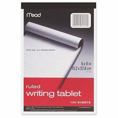 """Mead Top-bound Writing Tablet - 100 Sheet - 20 Lb - Ruled - 6"""" X 9"""" - 1 Each -"""