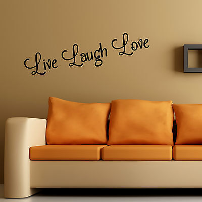 Live Laugh Love Wall Art Sticker Home Bedroom Living Room Quote Vinyl Decal