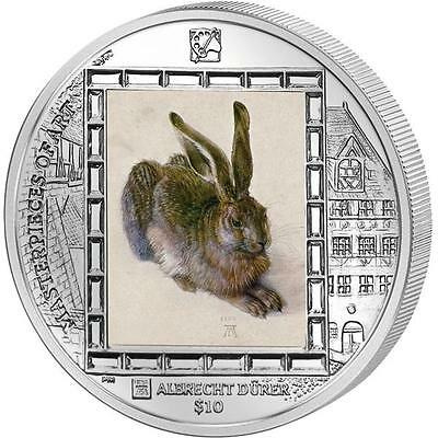 British Virgin Islands 2011 Masterpieces of Art Dürer Young Hare 1oz Silver Coin