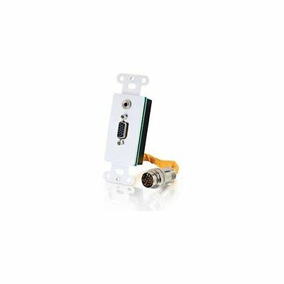 Cables To Go 60054 Rr Hd15 3.5 Audio Wp White
