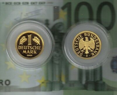 1 DM--Gold--Mark--2001--D--Deutsche Bundesbank--12,0 Gramm--
