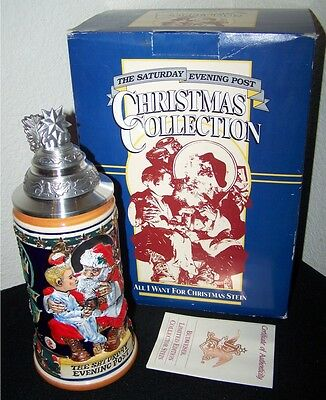 """Bud Stein GM13 - 1994 """"All I Want For Christmas"""" Budweiser Saturday Evening Post"""