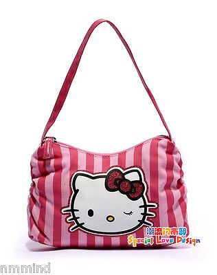 Hello Kitty Small Pink Canvas Accessory Make Up Hand Bag