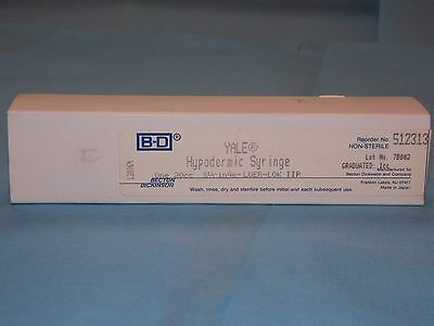 BD YALE 512313 HYPODERMIC SYRINGE 20cc LUER-LOK TIP, NEW SEALED BOX