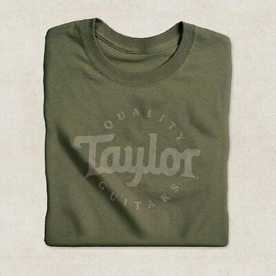 Taylor Guitars Logo T-Shirt In Olive, Various Sizes