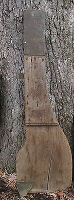 Large Antique Nautical Bronze and Wood Ship Rudder