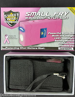Streetwise Pink Stun Gun Holster 8,800,000 Small Fry Rechargeable New in box