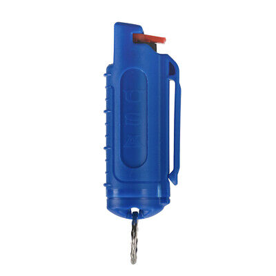 Police Magnum mace pepper spray .50oz blue molded keychain defense protection