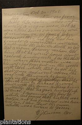 1948 Newnan, Ga. Document-Black Man Killed Another Man After Caught With Wife
