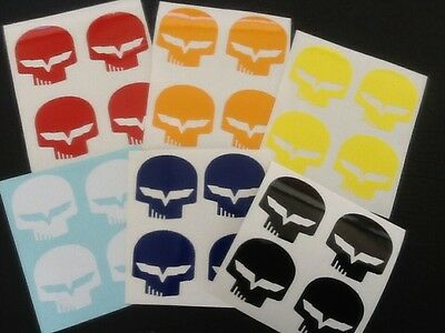 """1 SETS OF 4 JAKE Corvette Decals 1.5""""X1.5"""" High quality BUY 2 sets 3ed FREE"""