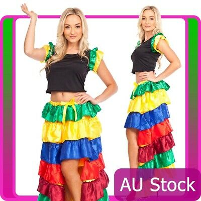 98458f103 Spanish Senorita Dancing Costume Flamenco Dancer Ladys Fancy Dress Party  Outfit