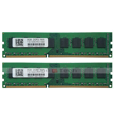 16GB 2x8GB DDR3 PC3-12800 1600MHz 240pin Desktop Memory For AMD CPU Motherboard